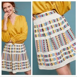 🆕NWT rare Anthropologie Rainbow Beaded Skirt